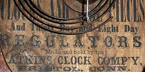 Atkins Clock Co. c. 1873 paper label