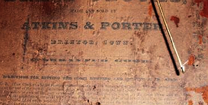 Atkins and Porter c. 1832 paper label