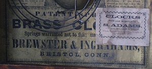 Brewster and Ingraham c. 1845 paper label