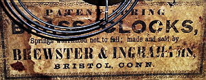 Brewster and Ingraham c. 1845 paper label 2