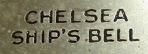 Chelsea Clock c. 1935 stamped metal