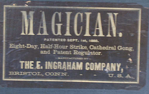 E. Ingraham c. 1889 paper label