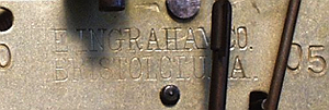 E. Ingraham c. 1905 stamped metal