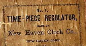New Haven c. 1900 paper label
