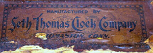 Seth Thomas c. 1900 paper label 2