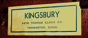 Seth Thomas c. 1932 paper label 2