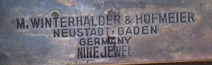 W and H c. 1910 stamped metal