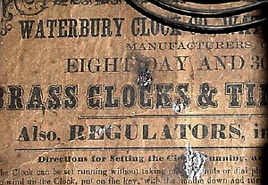 Waterbury c. 1875 paper label 2
