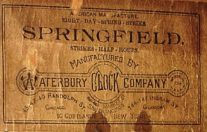 Waterbury c. 1906 paper label