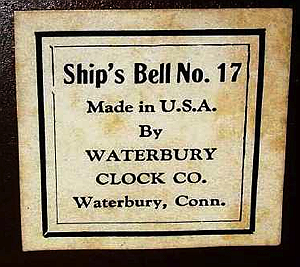 Waterbury c. 1925 paper label
