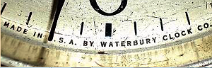 Waterbury trademark c. 1929 lettered label