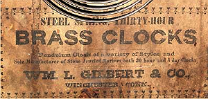 William Gilbert c. 1865 paper label
