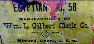 William Gilbert c. 1900 paper label