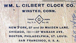 William Gilbert c. 1901 paper label