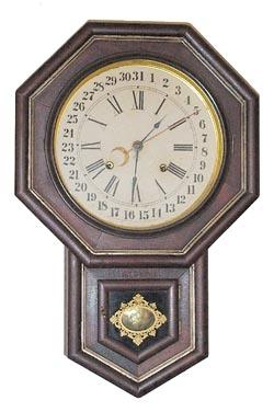 Drop Octagon, 10 Inch, Gilt Calendar
