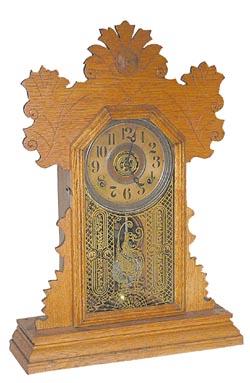 E Ingraham Flower, Violet Antique Clock