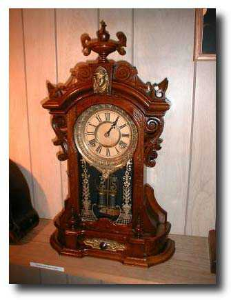 top of the line among the Ansonia Clock Co.'s Victorian mantle clocks.