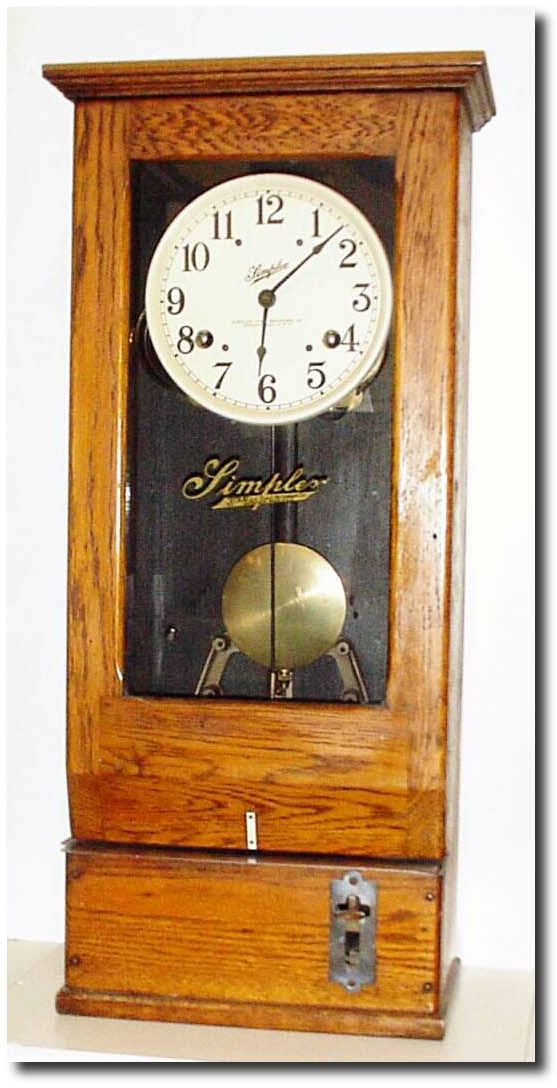 Simplex Time Recorder Company Antique Clock