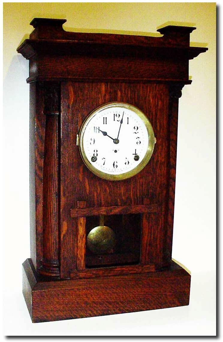 Antique arthur pequegnat clock company clock