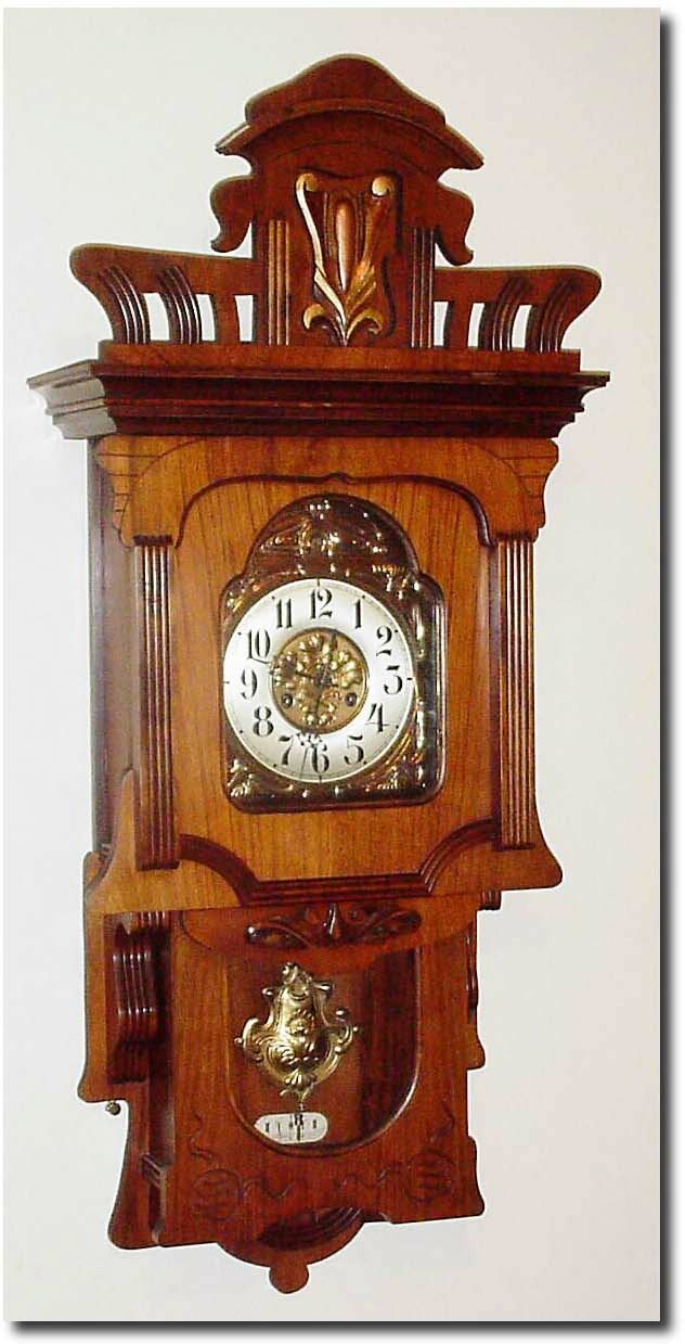 German or Germany Wall Antique Clock