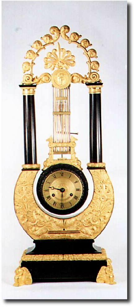 French Or France Shelf Lyre Antique Clock
