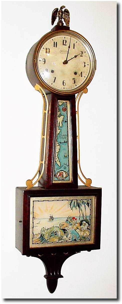 Ingraham Treasure Island Banjo Clock