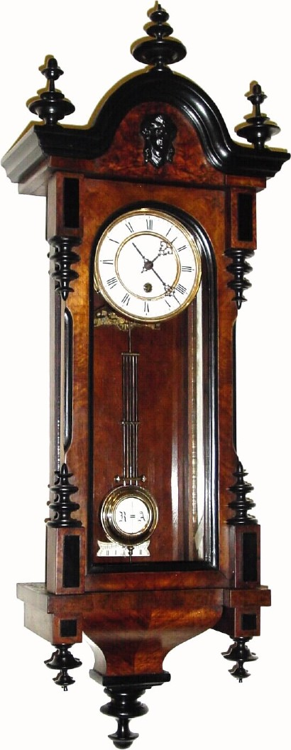German Or Germany Wall Vienna Antique Clock
