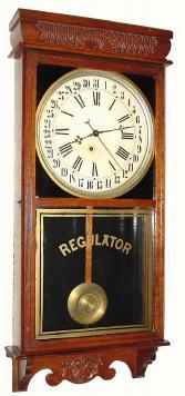 E Ingraham Western Union Antique Clock