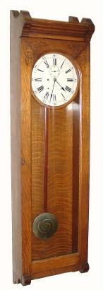 Warren Clock Company Regulator No 16 Antique Clock